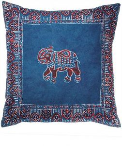 Cushion Cover~ Hippy Bohemian Blue and Red Azrak Cushion Cover~ By Folio Gothic Hippy CC2